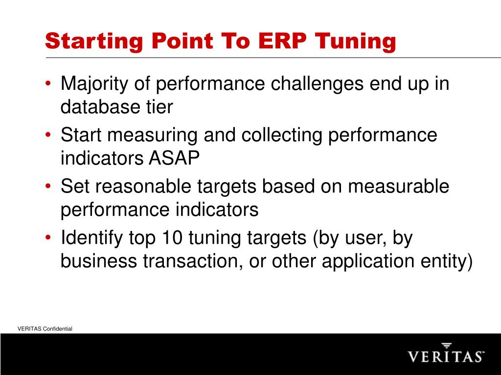 Starting Point To ERP Tuning