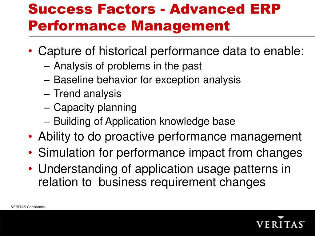 Success Factors - Advanced ERP Performance Management