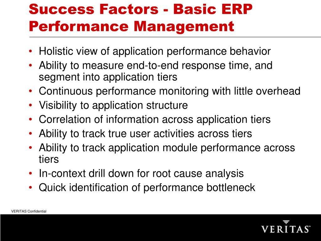 Success Factors - Basic ERP Performance Management