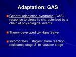adaptation gas