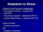 adaptation to stress36