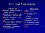 focused assessment