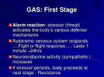 gas first stage