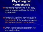 physiological homeostasis