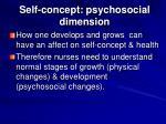 self concept psychosocial dimension