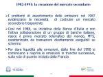 1982 1991 la creazione del mercato secondario