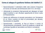 come si adegua la gestione italiana del debito 1