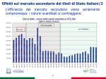 effetti sul mercato secondario dei titoli di stato italiani 2