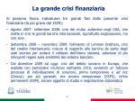 la grande crisi finanziaria