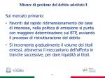 misure di gestione del debito adottate 1