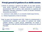 principi generali di gestione di un debito sovrano