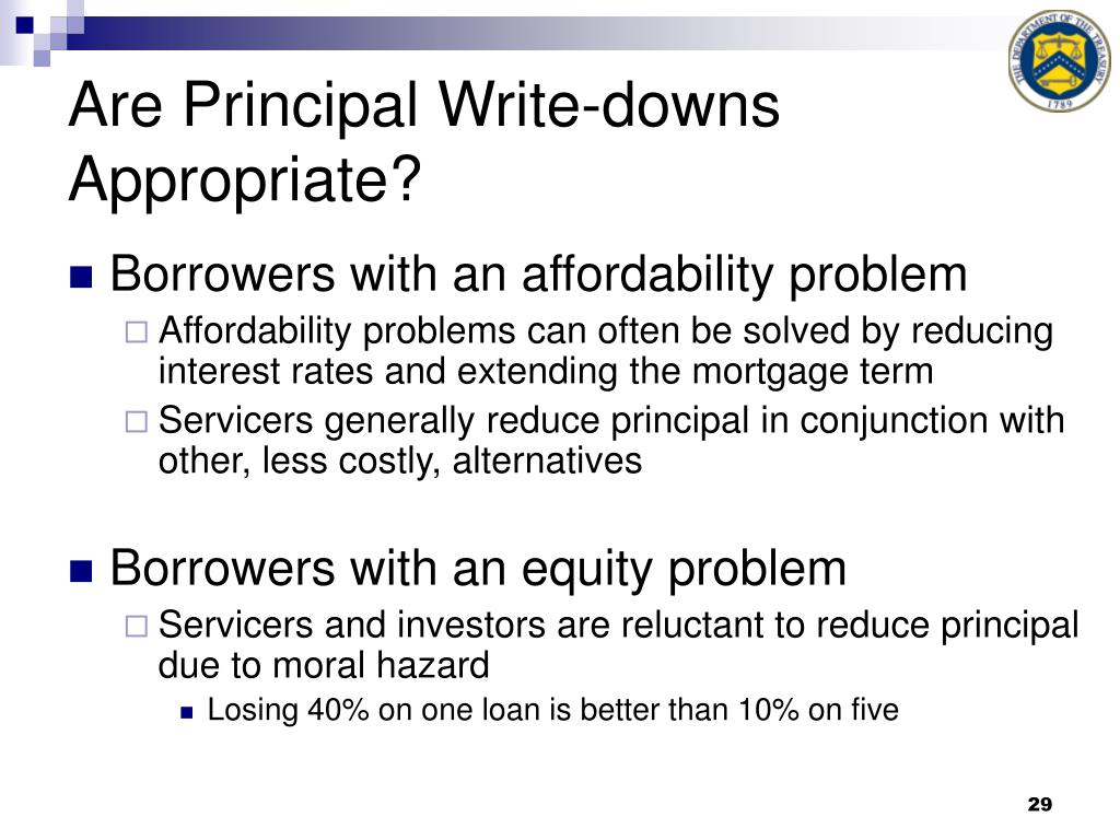 Are Principal Write-downs Appropriate?