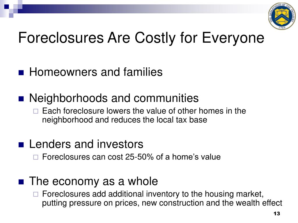Foreclosures Are Costly for Everyone