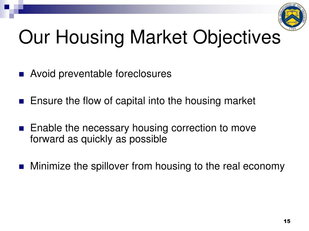Our Housing Market Objectives