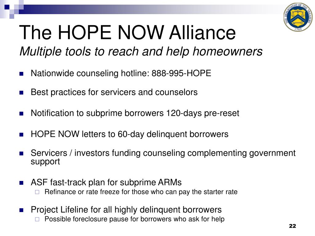 The HOPE NOW Alliance
