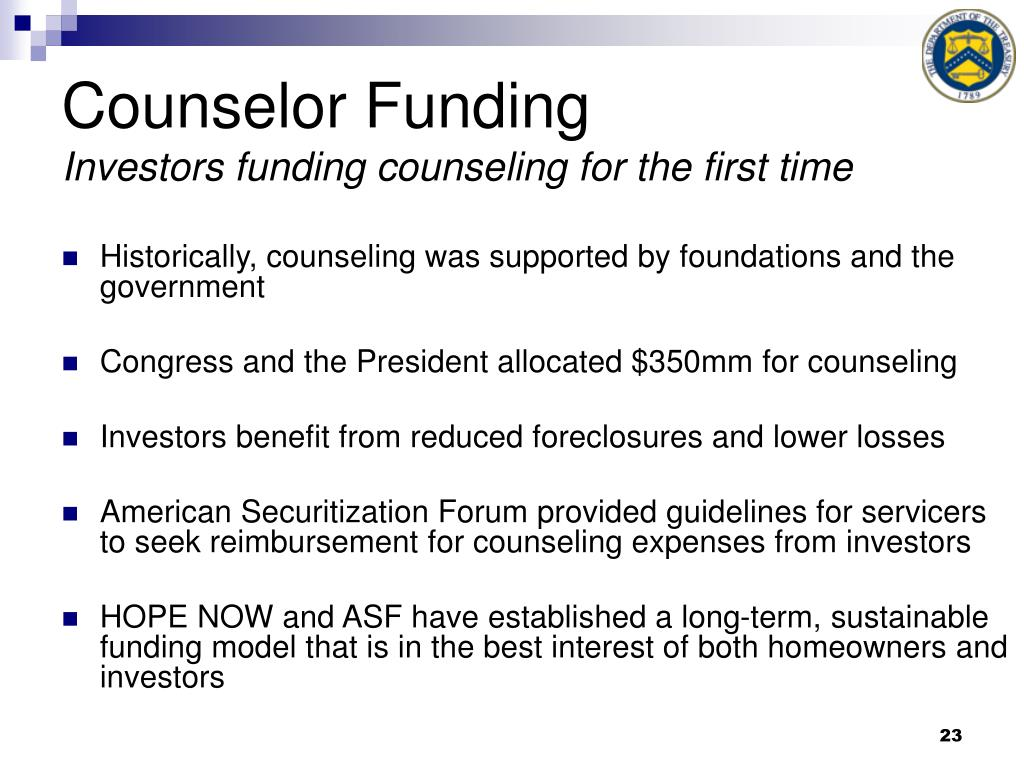 Counselor Funding