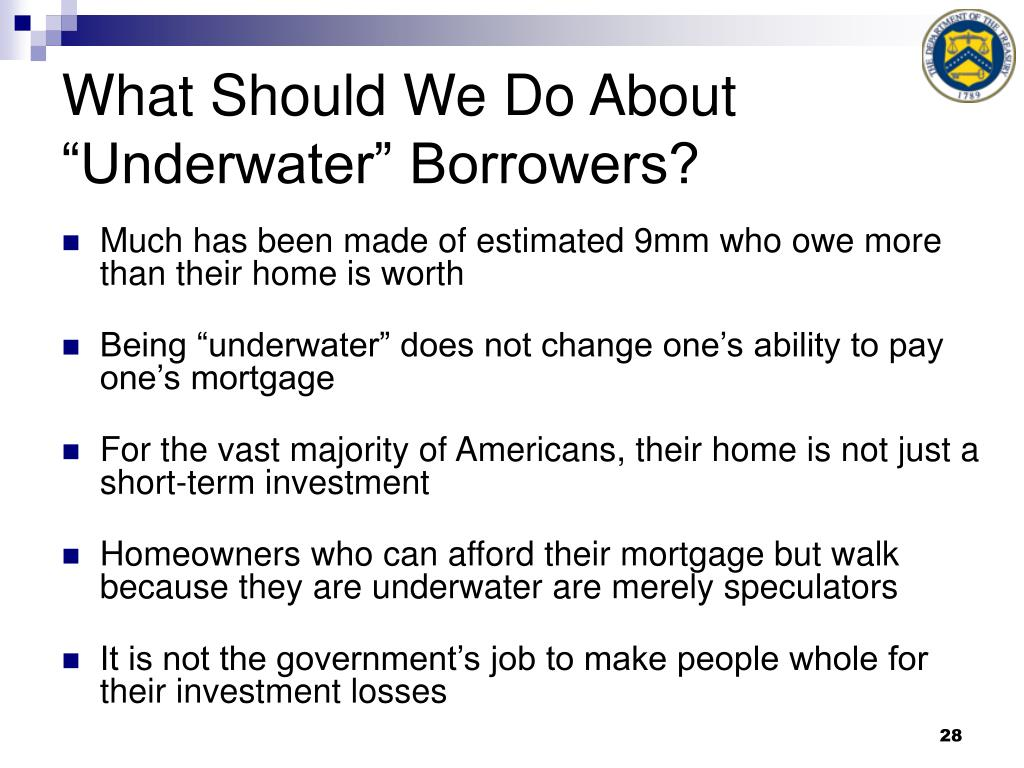 "What Should We Do About ""Underwater"" Borrowers?"