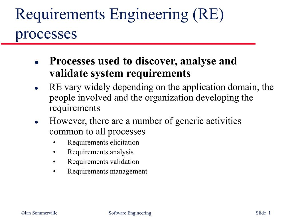 requirements engineering re processes