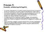 principio 5 economia solidale equit legalit