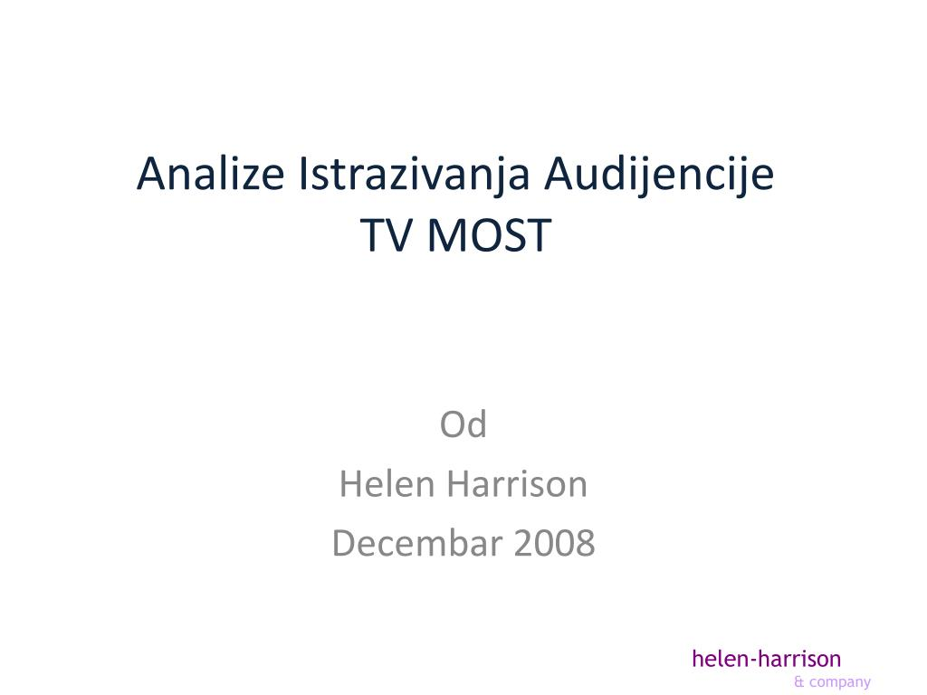 analize istrazivanja audijencije tv most