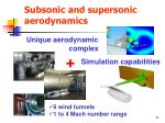 subsonic and supersonic aerodynamics