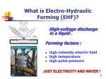 what is electro hydraulic forming ehf