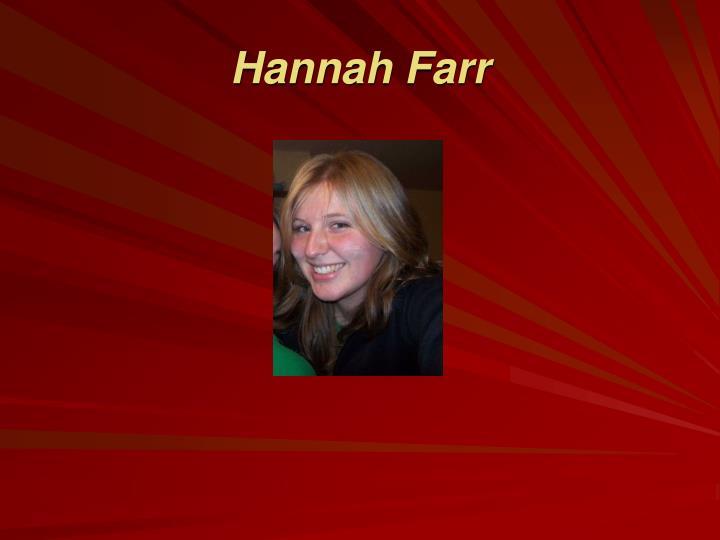 Hannah Farr