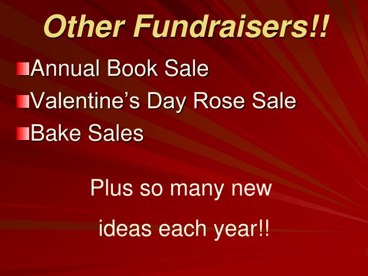 Other Fundraisers!!