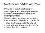 madhyamaka middle way view