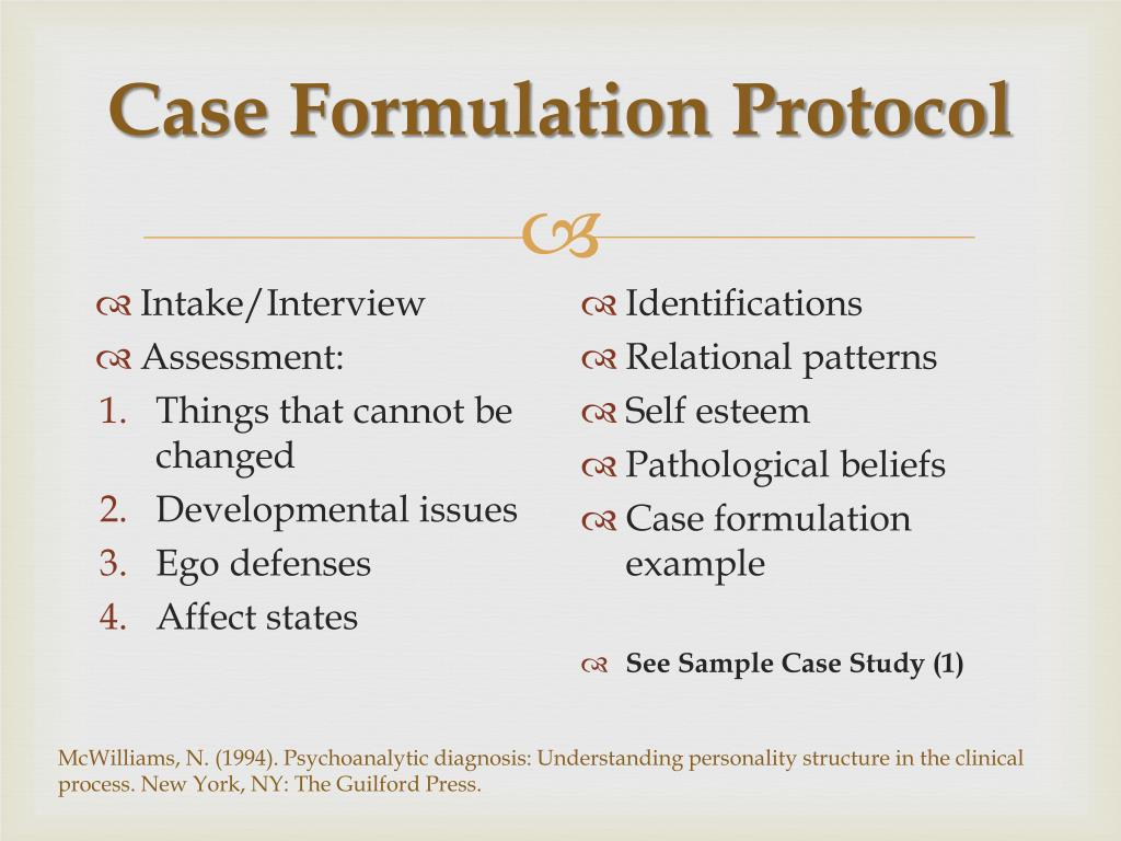 case formulation template - ppt psychoanalytic case formulation attachment styles