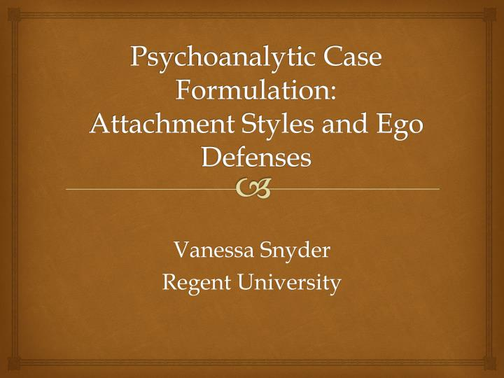 how to prepare a psychodynamic formulation