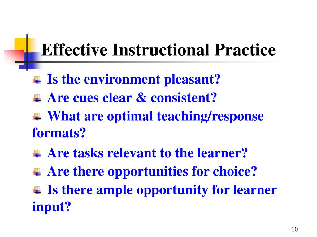 Effective Instructional Practice