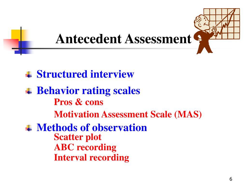 Antecedent Assessment