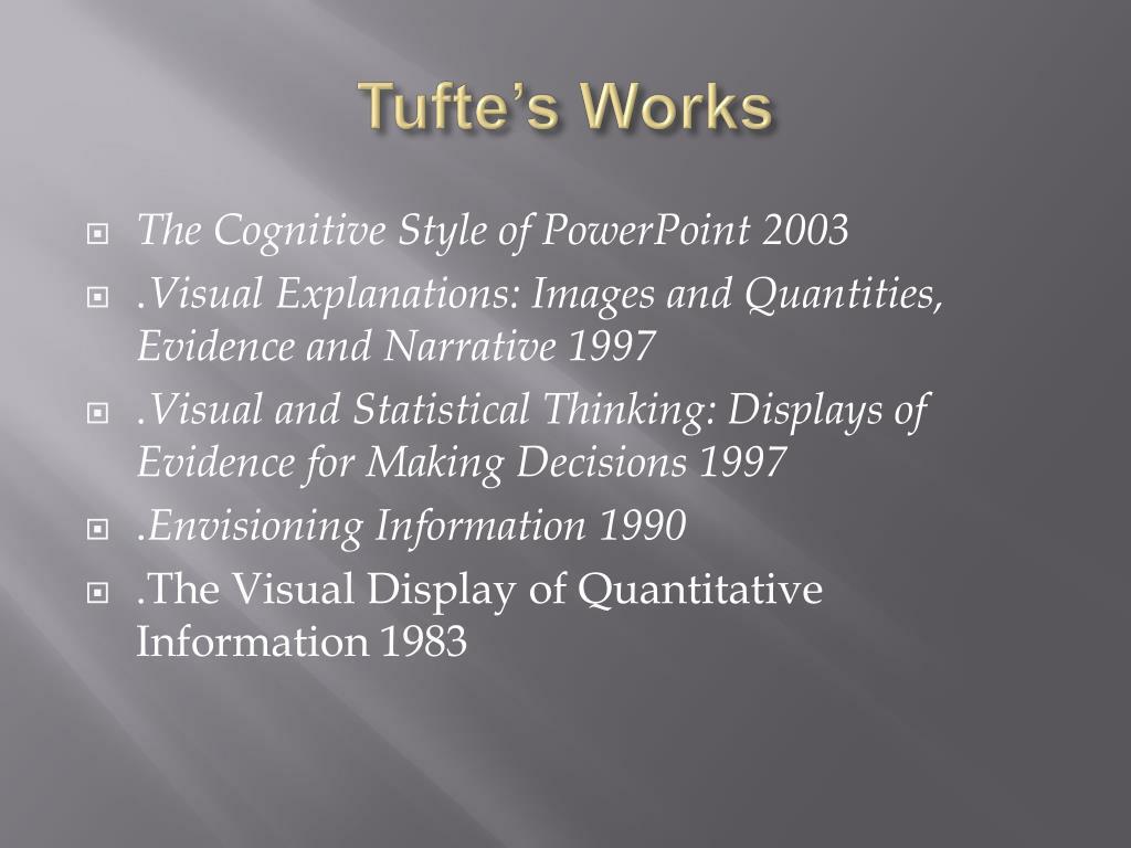 Tufte's