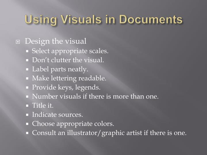 Using visuals in documents3