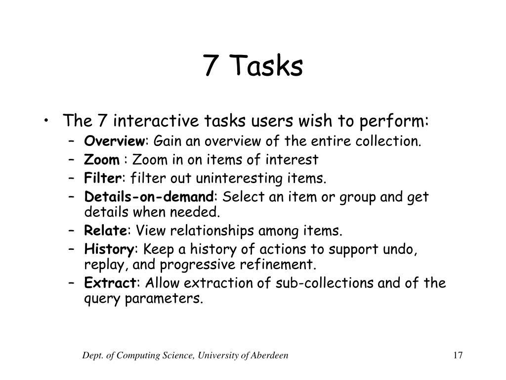7 Tasks