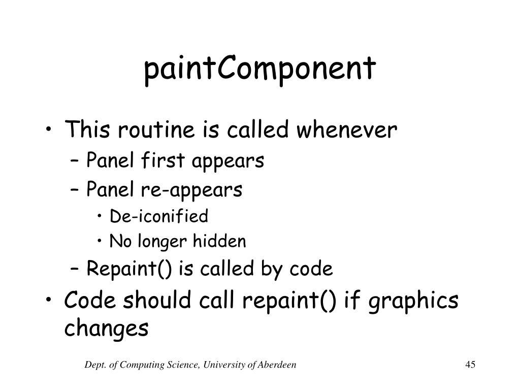paintComponent