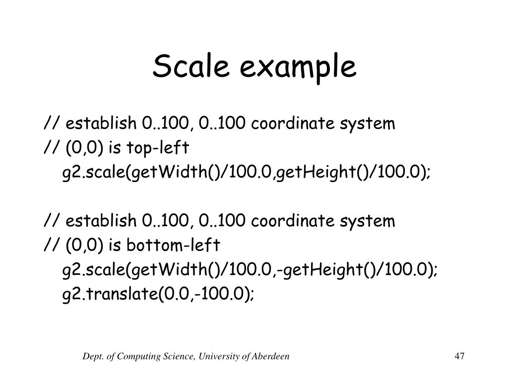 Scale example