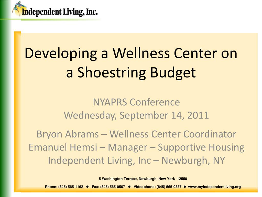 Developing a Wellness Center on a Shoestring Budget