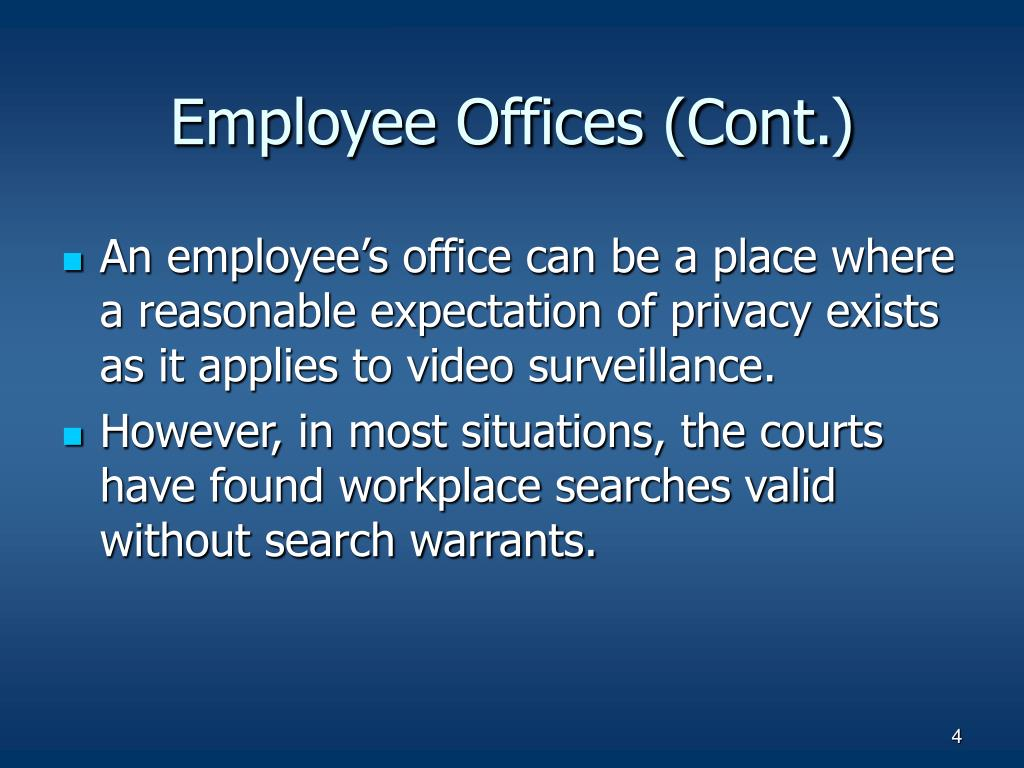 Employee Offices (Cont.)