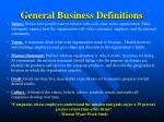 general business definitions