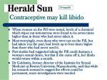 contraceptive may kill libido