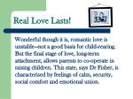 real love lasts