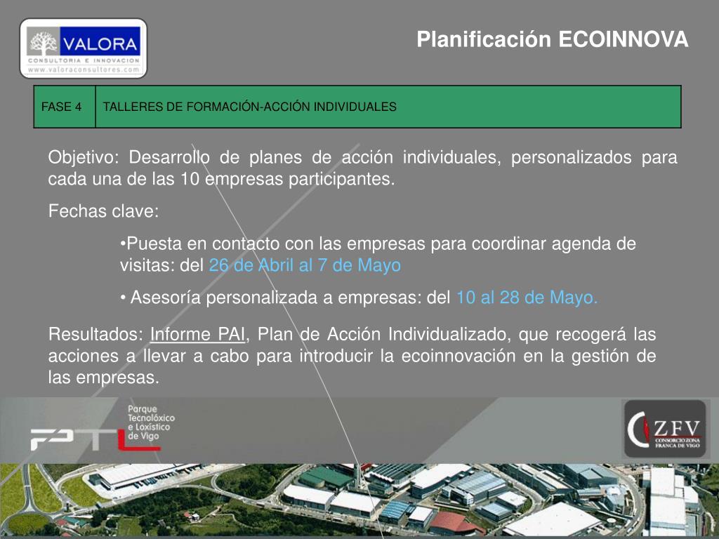 Planificación ECOINNOVA