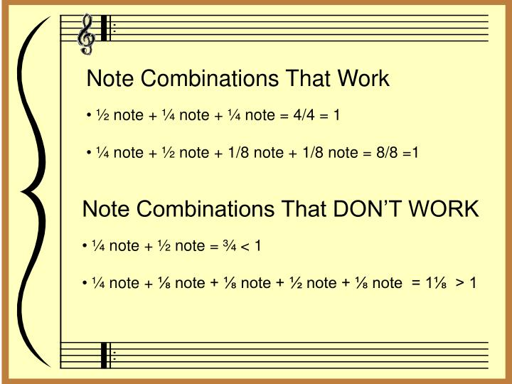 Note Combinations That Work