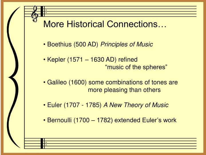 More Historical Connections…