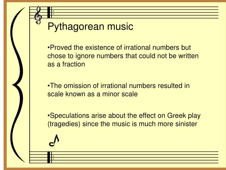 Pythagorean music