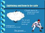 lightning and how to be safe