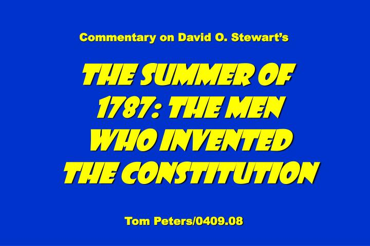 Commentary on David O. Stewarts