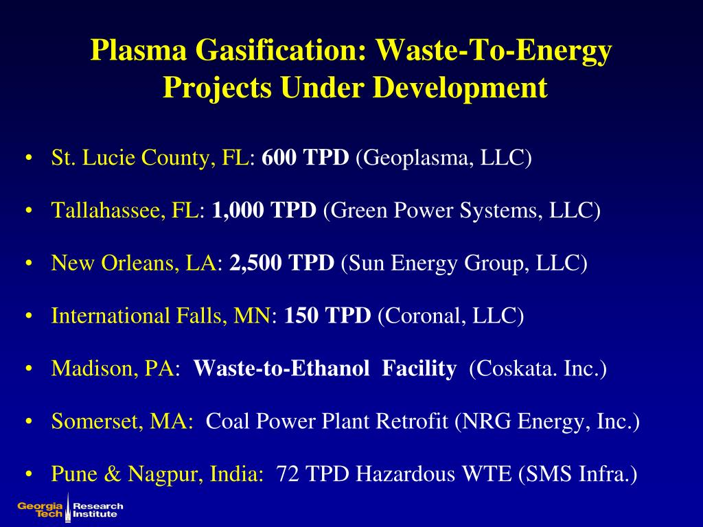 Plasma Gasification: Waste-To-Energy